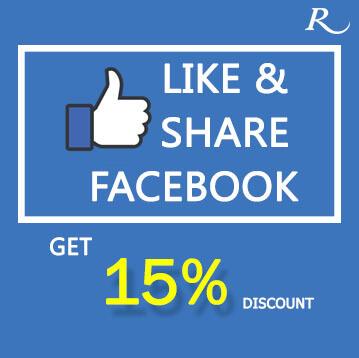 Like&Share Facebook 15%